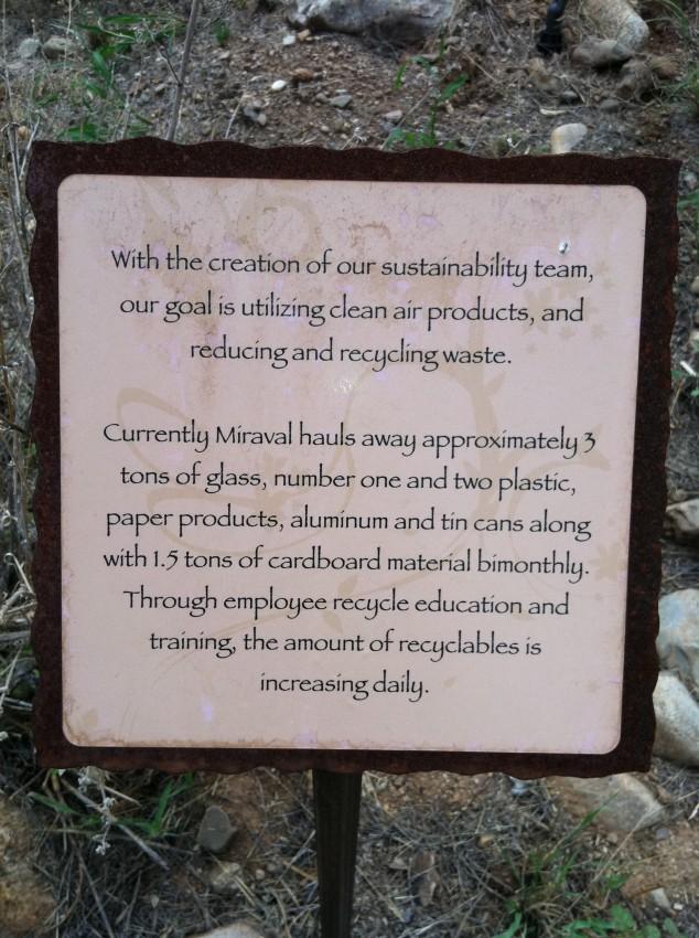 Miraval's Environmental Statement
