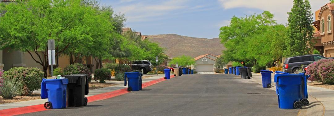 Tucson Arizona neighborhood trash pick-up