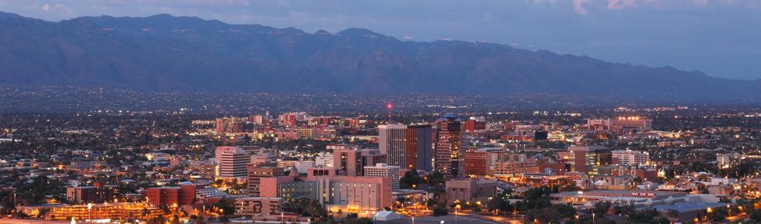 City of Tucson looking toward Catalina Mountains