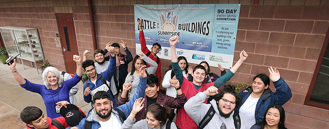 Battle of the Buildings, Sunnyside School District, Tucson, AZ, Tucson Electric Power, high school students and teacher