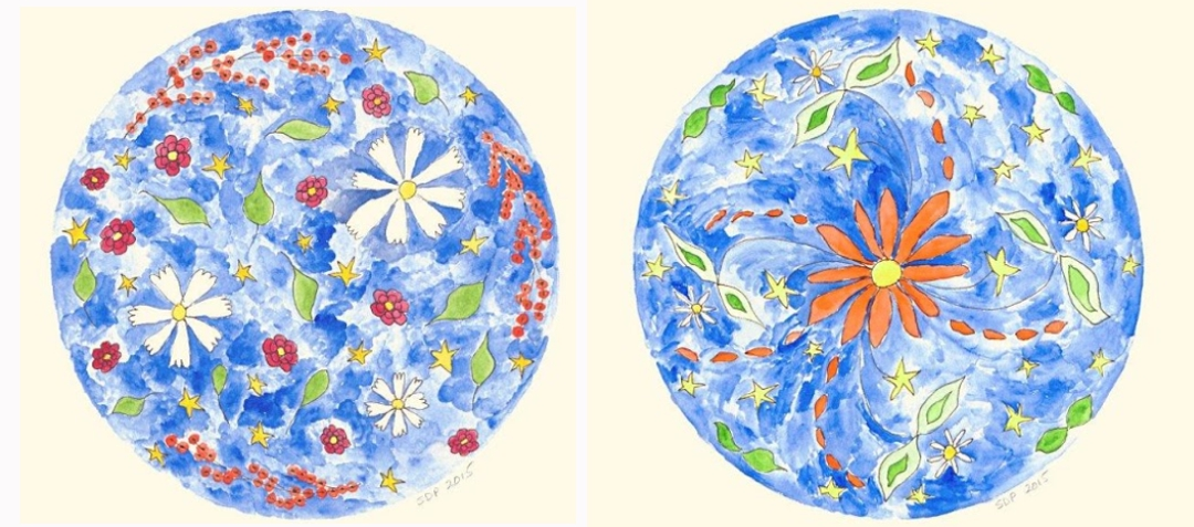 original illustrations by Shirley Dunn-Perry, earth blooming