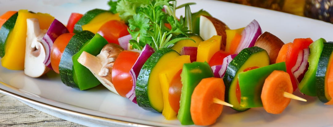skewers of vegetables