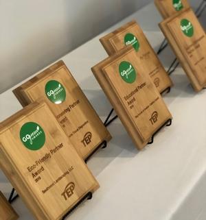 Go Green award plaques