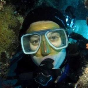 Trish scuba diving