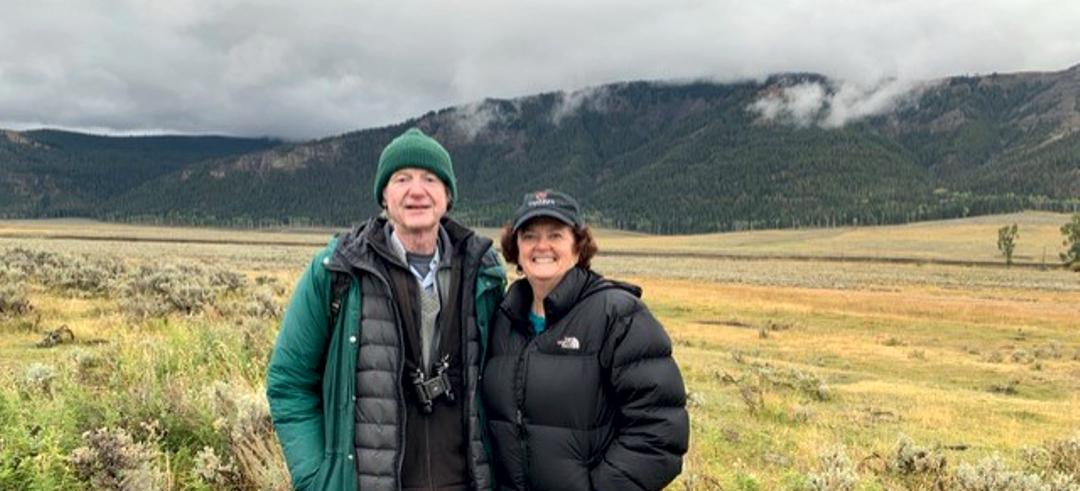Rick McIntyre and Gina Murphy-Darling (aka Mrs. Green) at Yellowstone National Park
