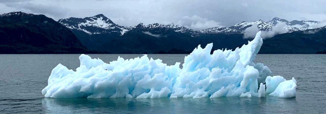 melting glacier iceberg