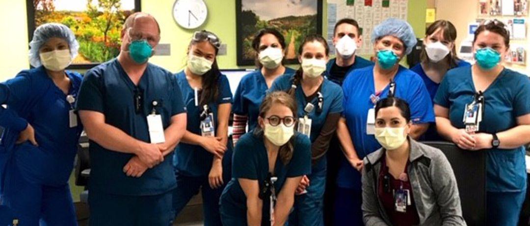 TMC legacy nurses wearing protective masks