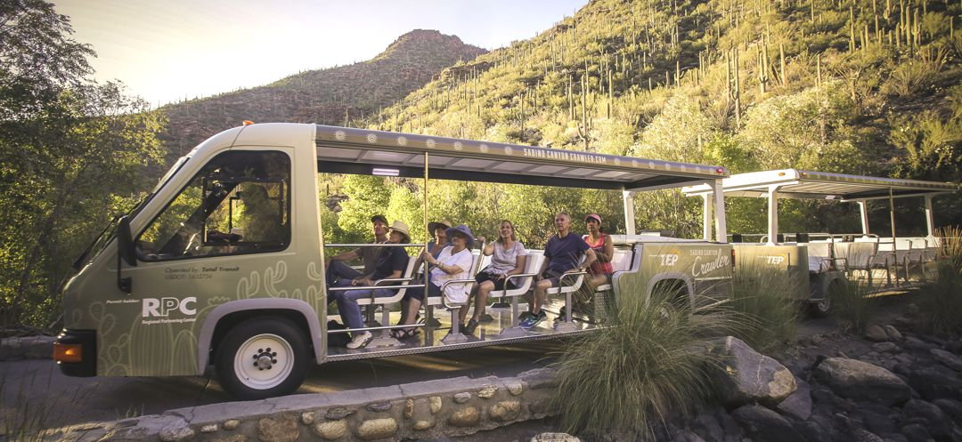 TEP's electric trams at Sabino Canyon