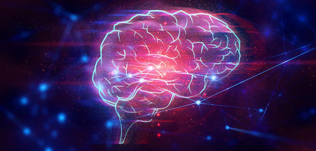abstract futuristic cyber brain