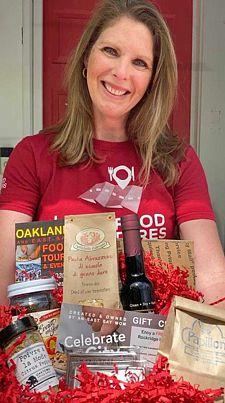 Lauren Herpich and her box of goodies